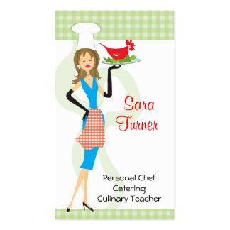 Cocinero de la comida que cocina la tarjeta de vis tarjetas de visita