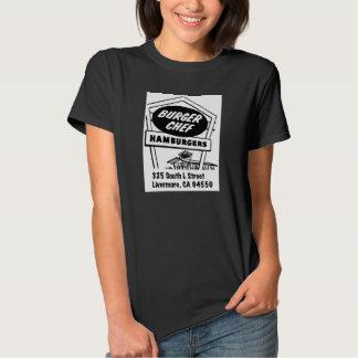 Cocinero de la hamburguesa camiseta