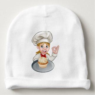 Cocinero de la mujer o dibujo animado del panadero gorrito para bebe
