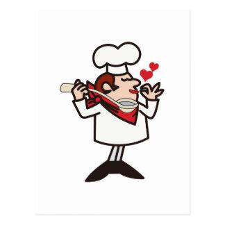 Cocinero de la prueba postal
