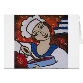 Cocinero de Patry Tarjeta De Felicitación