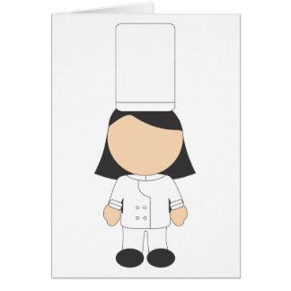 Cocinero de sexo femenino tarjeton
