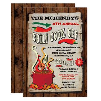 COCINERO del CHILE del poster del fiesta Invitación 12,7 X 17,8 Cm