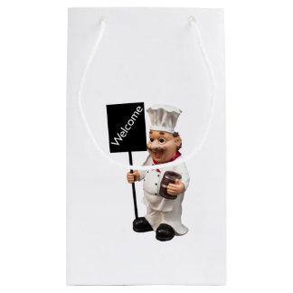 Cocinero del cocinero - tarjeta AGRADABLE del menú Bolsa De Regalo Pequeña