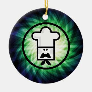 Cocinero del dibujo animado Fresco Ornamento De Navidad