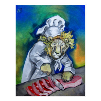 Cocinero del león postal