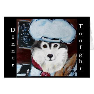 Cocinero del Malamute de Alaska Tarjeta De Felicitación