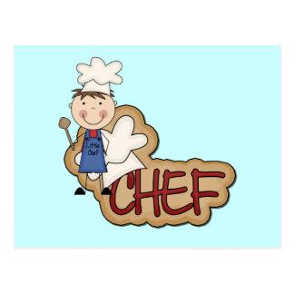 Cocinero del muchacho - camisetas y regalos postal
