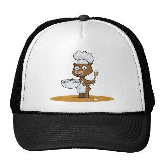 Cocinero del oso de peluche gorros bordados