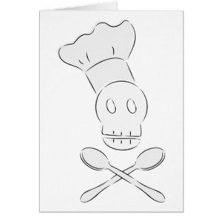 Cocinero del pirata tarjeton