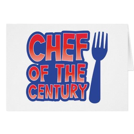 Cocinero del siglo tarjeta