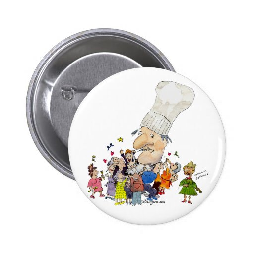 Cocinero divertido del franc s del dibujo animado pins for Frances culinario
