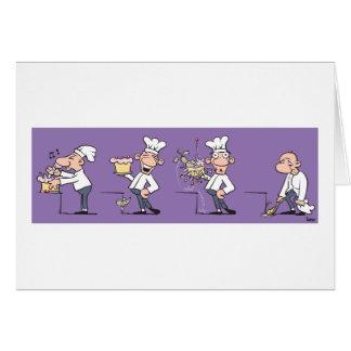 Cocinero divertido (espacio en blanco) tarjeta