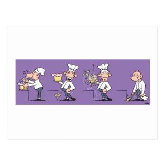 Cocinero divertido postal
