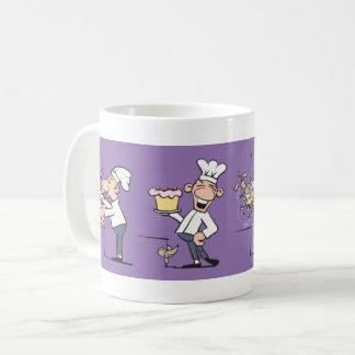 Cocinero divertido taza de café