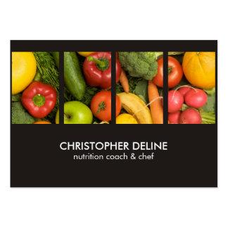 Cocinero elegante moderno del nutricionista de la tarjetas de visita grandes