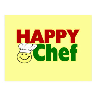 Cocinero feliz postal
