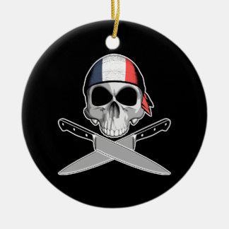 Cocinero francés ornaments para arbol de navidad