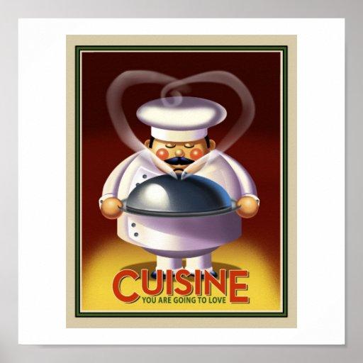 Cocinero franc s posters zazzle for Cocinero en frances