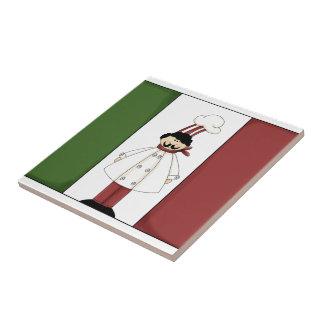 Cocinero italiano #1 con la teja de la bandera