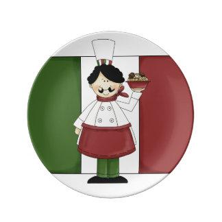 Cocinero italiano #3 platos de cerámica