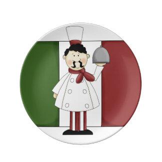 Cocinero italiano #4 platos de cerámica