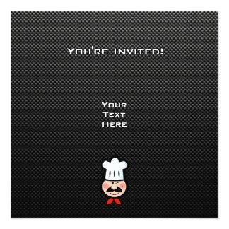 Cocinero liso invitación 13,3 cm x 13,3cm
