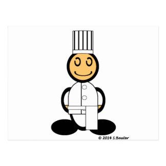 Cocinero (llano) tarjeta postal