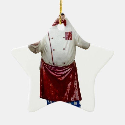 Cocinero modelo plástico adorno