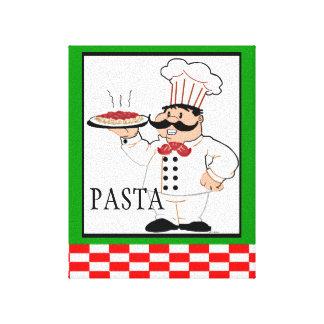 Cocinero-Pastas italianas Impresion En Lona