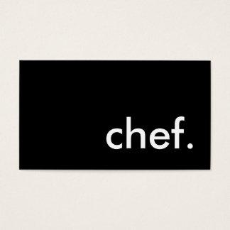 cocinero. (personalizable del color) tarjeta de negocios