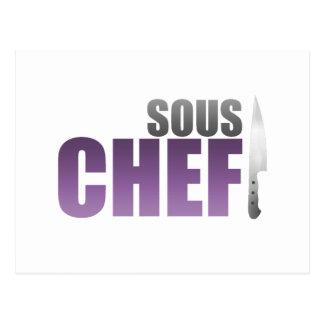 Cocinero púrpura de Sous Postales