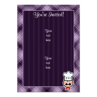 Cocinero púrpura invitación 12,7 x 17,8 cm