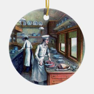Cocinero que cocina en la cocina - vintage - ornam ornamentos de reyes