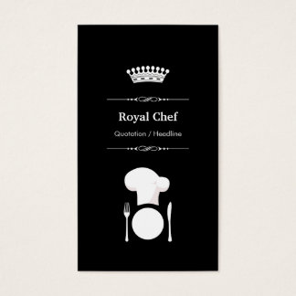 Cocinero real - blanco negro moderno profesional tarjeta de negocios