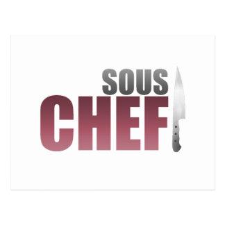 Cocinero rojo de Sous Postal
