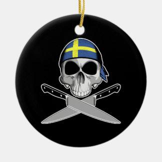 Cocinero sueco ornamentos de reyes magos