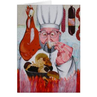 cocinero tarjeta de felicitación