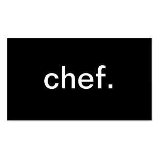 Cocinero Tarjetas De Visita