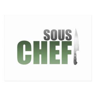 Cocinero verde de Sous Tarjeta Postal
