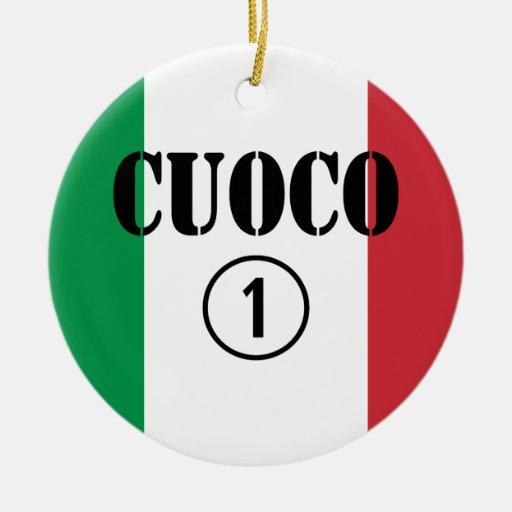 Cocineros italianos: Uno de Cuoco Numero Ornaments Para Arbol De Navidad