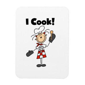 Cocino - al cocinero de sexo femenino imán flexible
