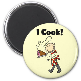 Cocino - al cocinero de sexo masculino iman de frigorífico