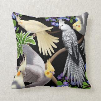 Cockatiels en almohada de las nomeolvides