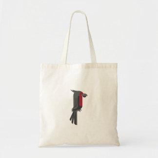 Cockatoo negro elegante de la palma bolso de tela
