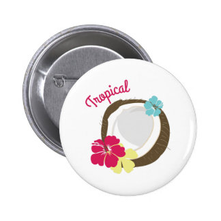 Coco tropical chapa redonda de 5 cm