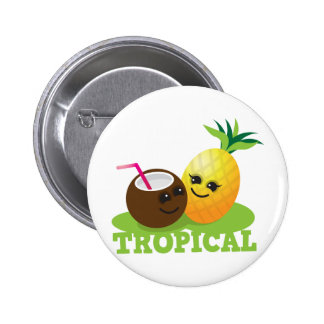 Coco y piña lindos TROPICALES de Kawaii Pins