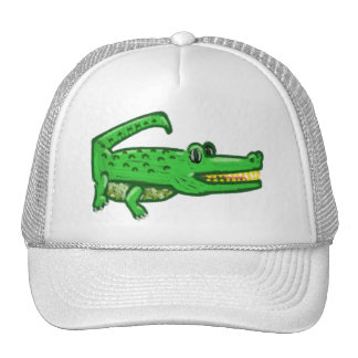 Cocodrilo del dibujo animado gorras de camionero