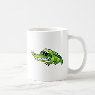Cocodrilo del dibujo animado taza de café
