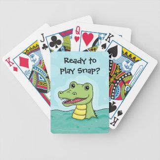 Cocodrilo feliz adaptable baraja de cartas